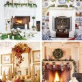 Go back gt gallery for gt christmas fireplace decorations mantle