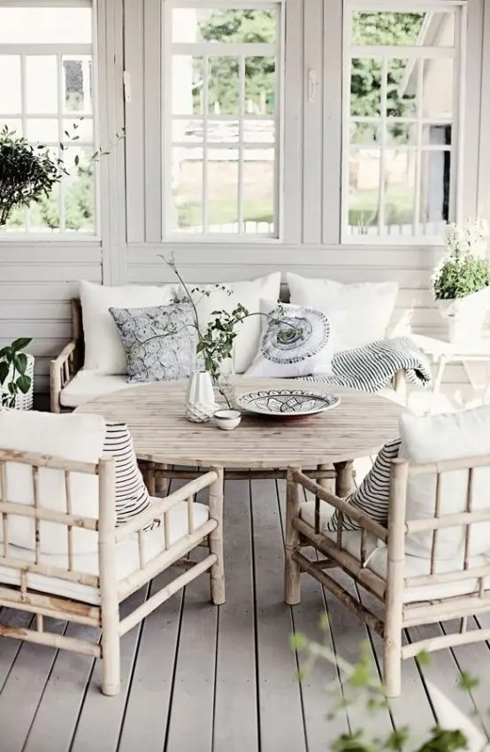 christmas decorating ideas for the kitchen backsplash tile 25 coastal and beach-inspired sunroom design - digsdigs