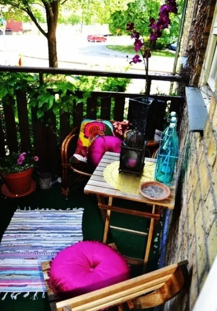 24 Colorful Boho Chic Balcony D 233 Cor Ideas Digsdigs