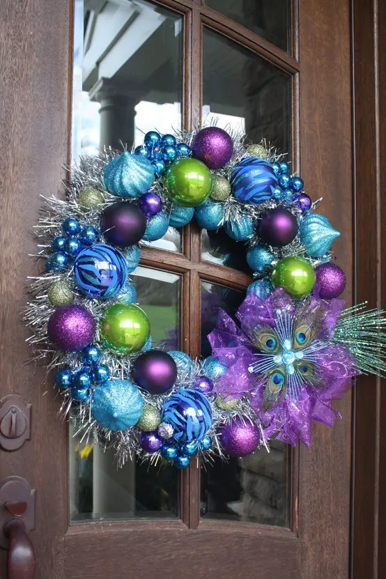 Home Accents Green Tinsel Wreath