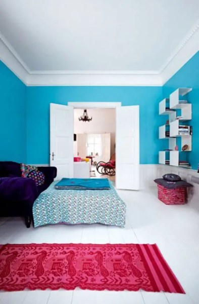 colorful bedroom designs 50 Bright And Colorful Room Design Ideas | DigsDigs