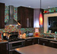 36 Colorful And Original Kitchen Backsplash Ideas - DigsDigs