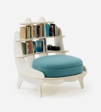 Comfy Chair With Built-In Bookshelves For Book Lovers ...