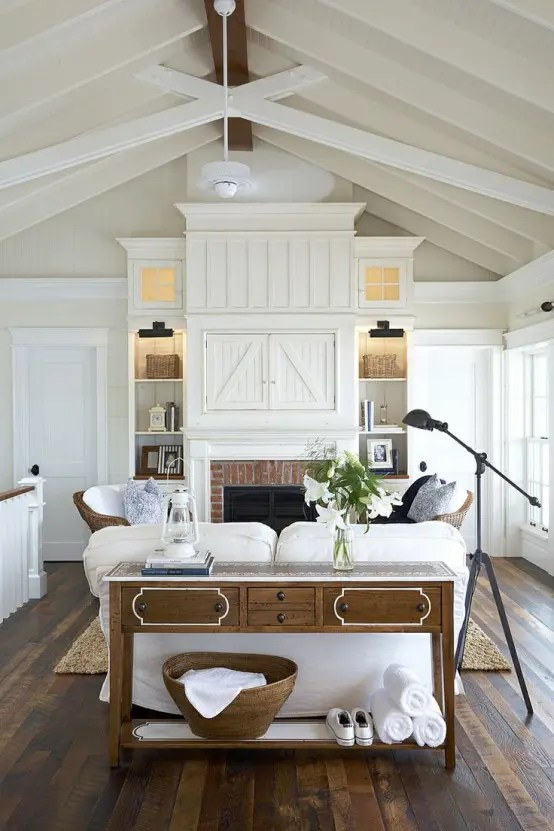 27 Comfy Farmhouse Living Room Designs To Steal: FARMHOUSE FRIDAY ~ LIVING ROOMS