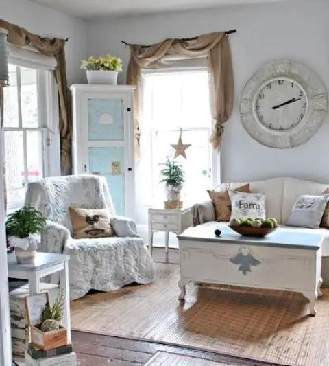 45 comfy farmhouse living room designs
