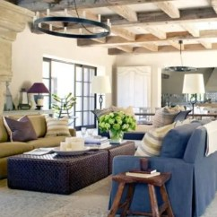 Farmhouse Living Room Chairs Painting Your Grey 45 Comfy Designs To Steal Digsdigs Interiors Often Feature Exposed Wooden Beams Like This The Cool Thing About
