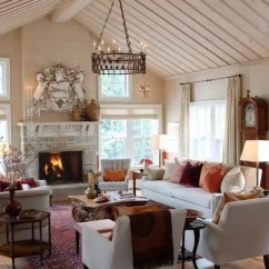 Farmhouse Living Room Chairs Staircase Pictures 45 Comfy Designs To Steal Digsdigs Persian Rugs Looks Fancy Surrounded By Upholstered Furniture In Pastel Colors The Cool Thing About