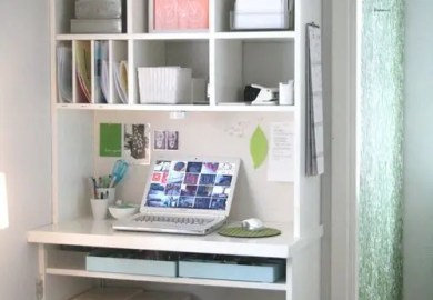 Small Space Home Offices Storage Decor