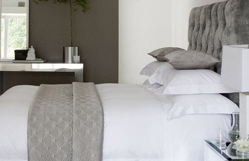 grey and white contemporary bedroom 33 Cool Hotel-Style Bedroom Design Ideas   Note Book