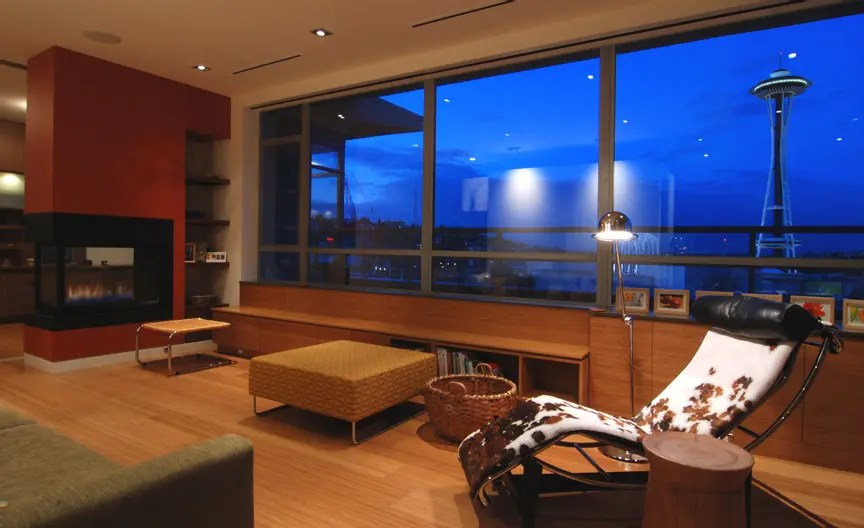 Contemporary TwoStory Penthouse Interior Design by BUILD