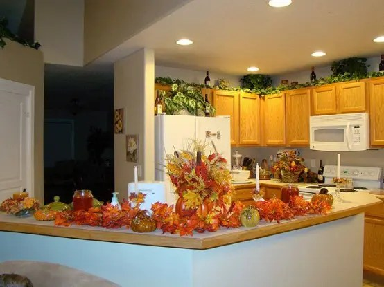 fall kitchen decor chrome shelving for 37 cool ideas digsdigs