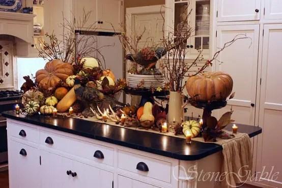 fall kitchen decor outside island 37 cool ideas digsdigs