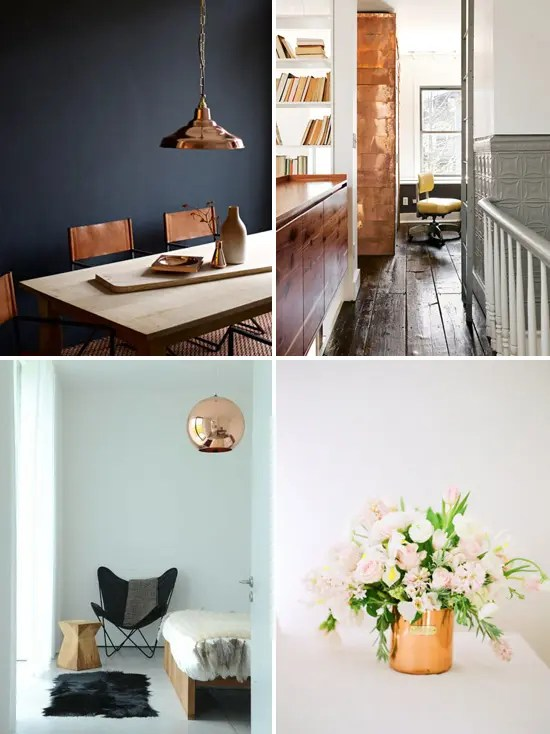 24 Hot Home Dcor Ideas With Copper DigsDigs