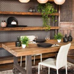 Rustic Kitchen Table Used Tables For Sale 35 Cool Industrial Dining Rooms And Zones - Digsdigs