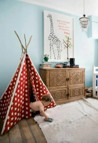 33 Cool Kids Play Rooms With Play Tents - DigsDigs