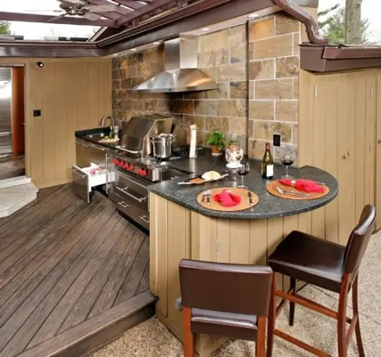 outside kitchen designs prefabricated cabinets 95 cool outdoor digsdigs