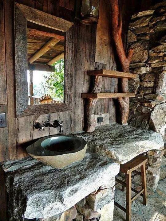 39 Cool Rustic Bathroom Designs - DigsDigs
