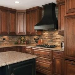 Stone Kitchen Backsplash Wood Countertops 29 Cool And Rock Backsplashes That Wow Digsdigs