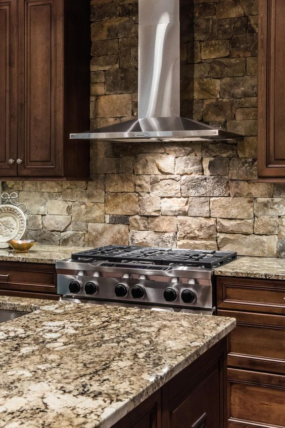 29 Cool Stone And Rock Kitchen Backsplashes That Wow