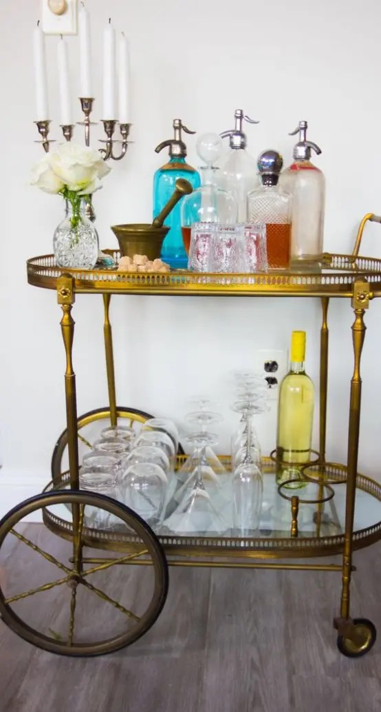 kitchen carts glass for cabinets hospitality trend: 20 cool tea trolleys your home ...