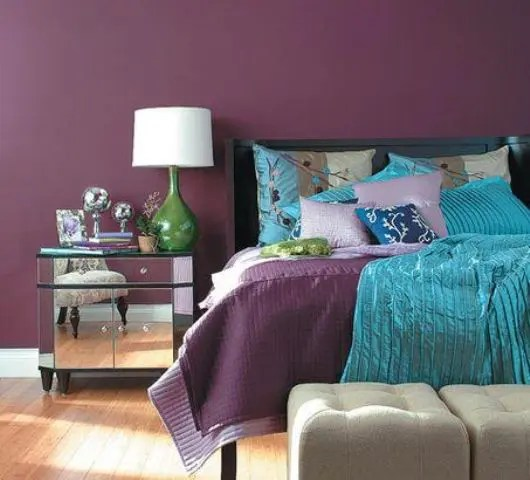 purple color for living room old pictures 36 cool turquoise home décor ideas - digsdigs