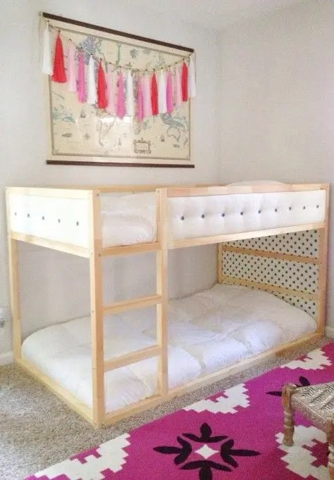 Pinterest Girls Kids Rooms With Wood Wallpaper 45 Cool Ikea Kura Beds Ideas For Your Kids Rooms Digsdigs
