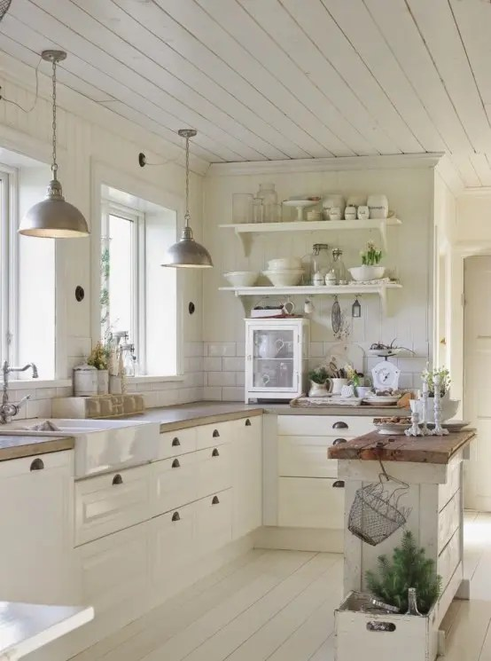 small kitchen decor childrens play sets 35 cozy and chic farmhouse ideas digsdigs even a island would add some functionality to your it also could