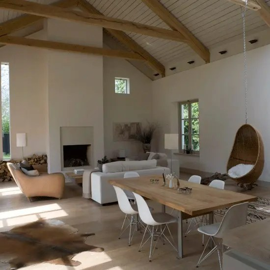 decorating ideas to make a small living room look bigger lounge chairs for 50 cozy and inviting barn rooms - digsdigs