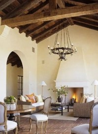 36 Cozy Living Room Designs With Exposed Wooden Beams ...