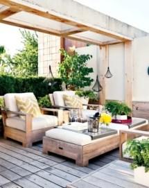 cozy rustic patio design