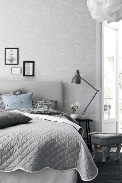 scandinavian bedroom design grey 50 Cozy And Comfy Scandinavian Bedroom Designs - DigsDigs