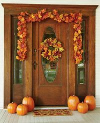 30 Cozy Thanksgiving Front Door Dcor Ideas