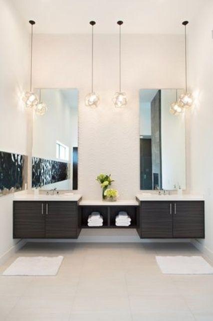 25 Creative Modern Bathroom Lights Ideas Youll Love