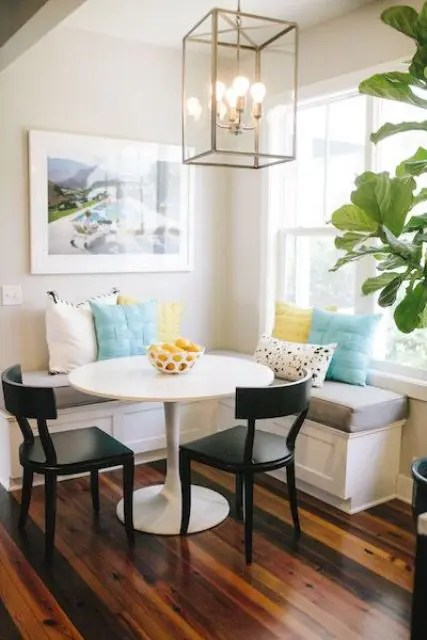 stool chair dream meaning cover accessories 40 cute and cozy breakfast nook décor ideas - digsdigs