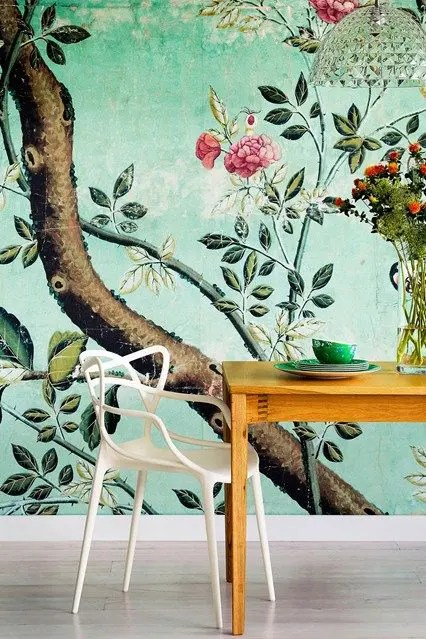 Decorating With Botanical Wallpaper 31 Beautiful Ideas