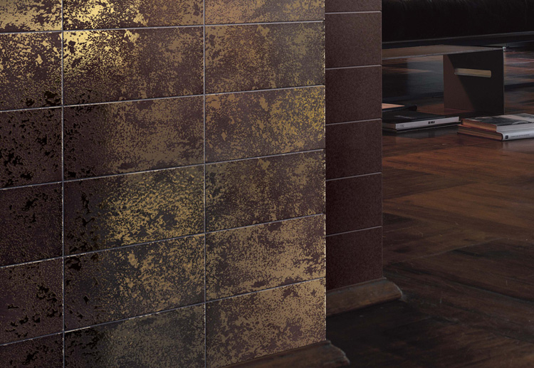 DoubleFired Ceramic Tiles with Pure Gold Texture