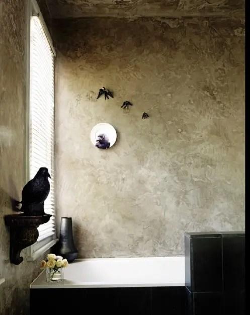 modern decor living room ideas curtains for 22 dramatic gothic bathroom designs - digsdigs
