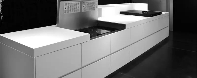 steel kitchen island delta pull out faucet futuristic design by eggersmann - digsdigs