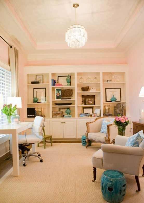 Cute Stylish Girl Wallpaper 55 Elegant And Exquisite Feminine Home Offices Digsdigs