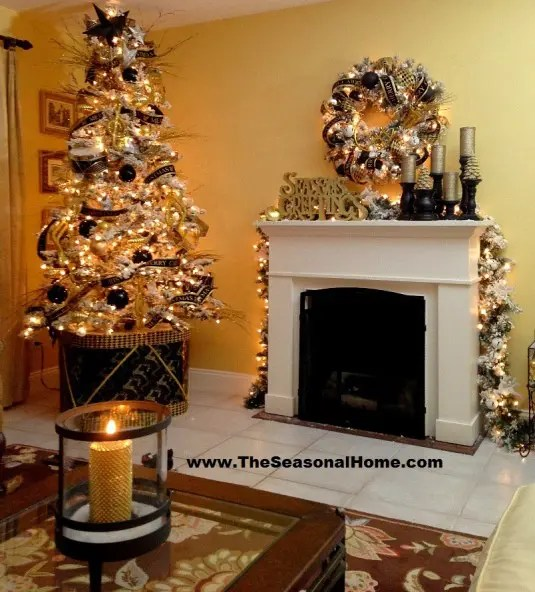 36 Super Elegant Black And Gold Christmas Dcor Ideas DigsDigs