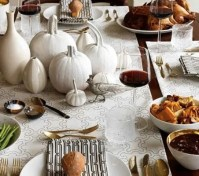 26 Elegant Black And White Thanksgiving Dcor Ideas - DigsDigs