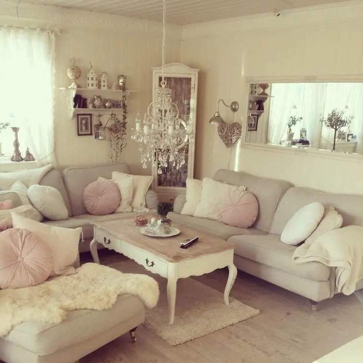 unusual shaped sofas uk sofa set pune india 37 enchanted shabby chic living room designs | digsdigs