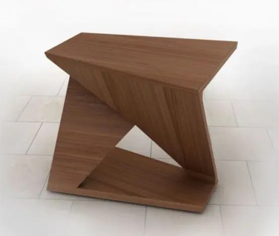 ergonomic coffee table with four