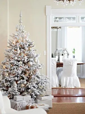 Silver And White Christmas Decorations