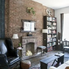 How To Decorate With A Dark Brown Leather Sofa Queen Convertible 69 Cool Interiors Exposed Brick Walls - Digsdigs