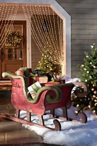 33 Creative And Fun Sleigh Dcor Ideas For Christmas