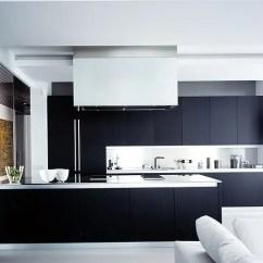 Modern Black Living Room Built In Cabinets 2 37 Functional Minimalist Kitchen Design Ideas - Digsdigs
