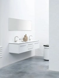 Functional Minimalist White Bathroom Furniture - DigsDigs