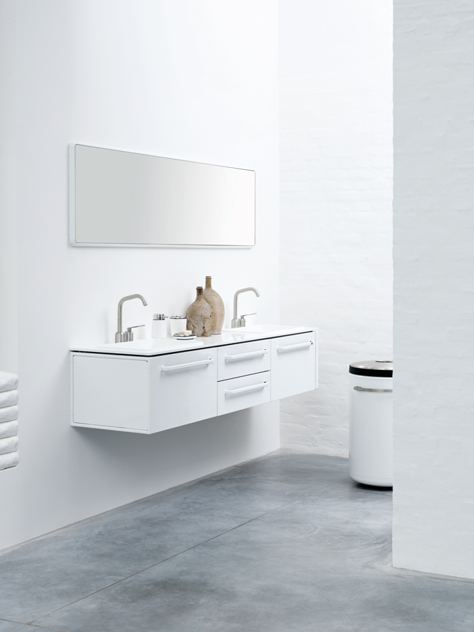 Functional Minimalist White Bathroom Furniture  DigsDigs
