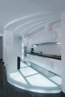 Futuristic Apartment Interior Reminds Salt Cave
